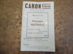 Répertoire Caron & Frère - éléctricité - Valenciennes - 59 - Vieux Papiers