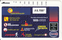 COLOMBIA(Tamura) - Montage Of Services 1($5700), Tirage 10000, Used - Colombia