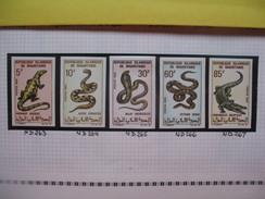 Timbre Non Dentelé   N° 263 à 267  Reptiles Et Sauriens   1969 - Mauritanie (1960-...)