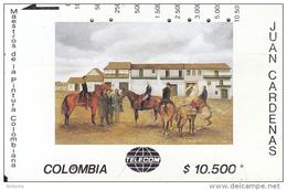 COLOMBIA(Tamura) - Plaza De Bolivar, Painting/Juan Cardenas, Tirage 10000, Used - Colombia