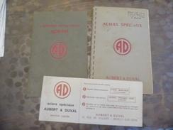 Ets Aubert & Duval - Acier Spéciaux - Carbures Métallique - Carte De Visite- Neuillysur Seine - - Old Paper