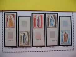 Timbre Non Dentelé   N° 286 à 290   Costumes Traditionnels   1970 - Mauritanie (1960-...)
