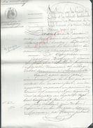 NAPOLEON PAR LA GRACE DE DIEU CLAIRAVAUX 1859 ACTE D ACCEPTATION DE SUBROGATION JEAN GUY RAYNAUD 4 PAGES : - Manuscripts