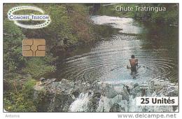 COMOROS ISL. - Chute Tratringua, Comores Telecom Telecard 25 Units, Used - Comoren