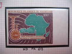Timbre Non Dentelé   N° PA 69  UAMPT   1967 - Mauritania (1960-...)