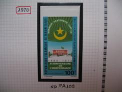 Timbre Non Dentelé   N° PA 109  10 ème Anniversaire De L'indépendance    1970 - Mauritanië (1960-...)