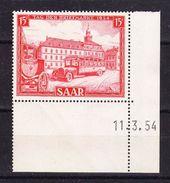 Saarland, Tag Der Briefmarke Mit Druckdatum 11.3.54, Postfrisch (42856) - Zona Francese
