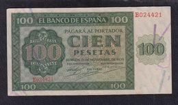 EDIFIL 421a  100 PTAS 21 DE NOVIEMBRE SERIE E CONSERVACIÓN EBC. - [ 3] 1936-1975 : Regency Of Franco