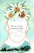 Celui Qui A Fait Les Promesses Est Fidèle Hébr. 10-23 - Edelweiss - Montagne - 1907 - Symbolisation De Dieu ? - Cristianesimo