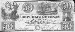 REPUBLIQUE DU TEXAS - 1840 - 50 DOLLARS - Etats-Unis