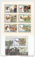 Fujeira, 1970 Scout  Animals Sheetlet Of 6 Stamps Complete MNMH IMPERFOR.+ 1 S.SH. Perf-SKRILL PAY ONLY - Fujeira