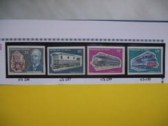Timbre Non Dentelé   N° 286 à 289  60 ème Anniversaire De La Mort De Rudolf Diesel    1973 - Nigeria (1961-...)