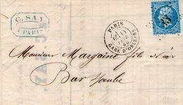 Etoile 33 /n° 22  PARIS GARE D'ORLEANS  14 AOUT  1865 - 1849-1876: Classic Period