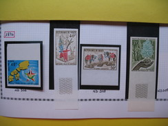 Timbre Non Dentelé   N° 306 à 309  15 ème Anniversaire Du Conseil De L'entente  Artisanat Et  Semaine De L'arbre  1974 - Nigeria (1961-...)