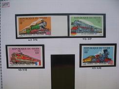 Timbre Non Dentelé   N° 316 à 319  Locomotives  1975 - Nigeria (1961-...)