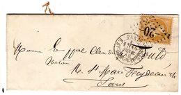 Losange -20- En Place De L'etoile /n°21 PARIS R. St-DOMque-St-Gr  15 FEVR. 1865  Signee POTHION - 1849-1876: Classic Period