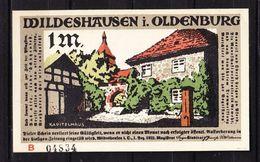 Notgeld, Wildeshausen, 1 Mark, 1921 (42864) - Lokale Ausgaben