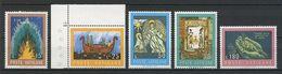 VATICAN 1974 N° 571/575 **  Neufs  MNH Superbes Cote 1 € Bible Livres Bateaux Boats Noé Nativité - Vatican
