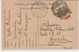 40-Franchigia Militare 1^ Guerra-Posta Militare-Ufficio 10°Corpo Armata X Acireale-Sicilia - War 1914-18