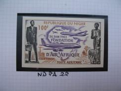 Timbre Non Dentelé   N° PA 22  Fondation De La Compagnie Air Afrique  1962 - Nigeria (1961-...)