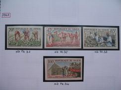 Timbre Non Dentelé   N° PA 31 à 34  Campagne Arachidière   1963 - Nigeria (1961-...)