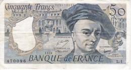 BILLETE DE FRANCIA DE 50 FRANCOS DE QUENTIN DE LA TOUR DEL AÑO 1976 SERIE L (BANKNOTE) - 1962-1997 ''Francs''