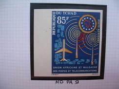 Timbre Non Dentelé   N° PA 9   2 ème Anniversaire De L'UAMPT  1963 - Tchad (1960-...)