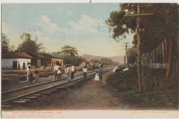 CPA NICARAGUA Salida Ferro Carril Para Occidente Leon Tinted 3 Timbres Stamps 1910 - Nicaragua