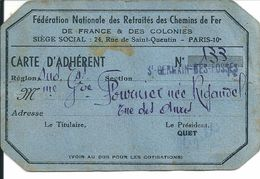 S N C F -  FEDERATION  NATIONALE Des RETRAITES  Des CHEMIN DE FER  Région SUD - Autres