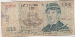 CHILI 1000 Pesos 1991 P154e VG- - Chili