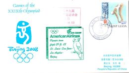 Vol Spécial Air China American Airlines Ste Lucie San Juan Los Angeles Pékin - 29/07/08 - équipe Olympique - Ete 2008: Pékin