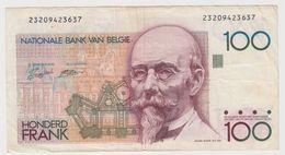 BELGIQUE 100 Francs 1982 P142a VG+ - [ 2] 1831-... : Royaume De Belgique