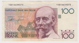 BELGIQUE 100 Francs 1982 P142a VG+ - [ 2] 1831-... : Belgian Kingdom