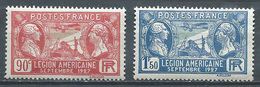 France YT N°244/245 Légion Américaine Neuf/charnière * - Ungebraucht