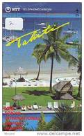 Télécarte  TAHITI Sur JAPON - TAHITI  Related  (2) AIRPORT Telefonkarte Phonecard Japan - Paysages