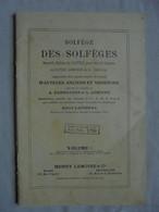 Ancien Livret Solfège Des Solfèges Pour Voix De Soprano Années 10 - Música & Instrumentos