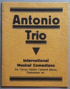 Libretto - Antonio Trio - International Musical Comedians - Circus Varieté Revue - Vecchi Documenti