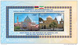 Armenien / Armenie / Armenia 2017, Armenia-Iran Joint Issue, Blue Mosque Yerevan, Cathedral Isfahan SS  - MNH ** - Gezamelijke Uitgaven