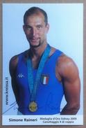 Autografo - Simone Raineri - Medaglia Oro Sidney 2000 Canottaggio Di Coppia - Autografi