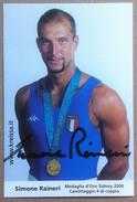 Simone Raineri - Medaglia Oro Sidney 2000 Canottaggio Di Coppia - Autografo - Autografi