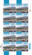 Iceland 2012 MNH Minisheet Of 10 Akureyri 150 Years - Dot After '08' - Blocs-feuillets