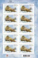 Iceland 2012 MNH Minisheet Of 10 Odobenus Rosmarus - Seals - Blocs-feuillets