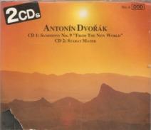"CD    Antonin  Dvorak  "" Symphonie N° 9  &  Sabat Mater  Op 58 - 2 CD  De 1990  Avec  15  Titres - Klassik"