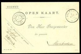 HANDGESCHREVEN BURGEMEESTERSKAART Uit 1899 Van DELFZIJL Naar BURGEMEESTER Te GROOTRONDSTEMPEL MUNTENDAM (10.656d) - Periode 1891-1948 (Wilhelmina)