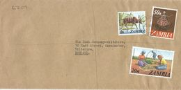 Zambia 1978 Kitwe Dancer Groudnuts Sitatunga Wetlands Barclays Registered Cover - Zambia (1965-...)