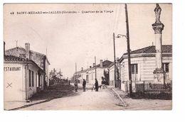 33 St Saint Medard En Jalles Quartier De La Vierge Cpa Animée Correspondance 1917 - France
