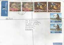 Zambia 1979 Mansa Pangolin Dancer Fish Eagle Barclays Registered Cover - Zambia (1965-...)