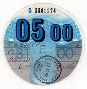 (I.B) GB Revenue : Car Tax Disc (Skoda 2000) - Unclassified