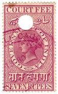 (I.B) India Revenue : Court Fee 7R - India (...-1947)