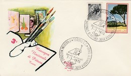 1970 TORINO National PAINTING EVENT COVER Art  Italy Stamps Tree - Art